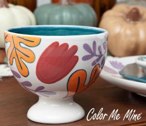 Studio City Floral Pedestal Bowl