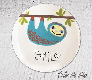 Studio City Sloth Smile Plate