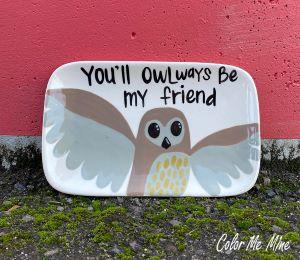 Studio City Owl Plate